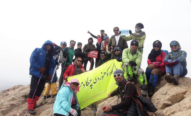گزارش صعود قله بینالود در اولین هفته سال ۹۷