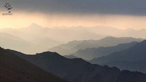 نمایی از رشته کوه البرز
